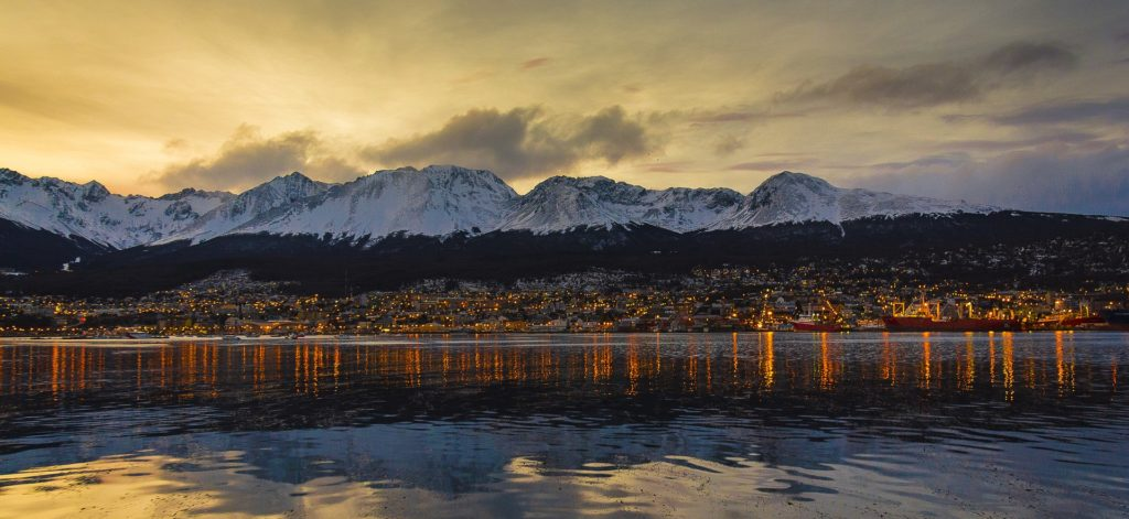 Ushuaia, Argentina - view from the sea