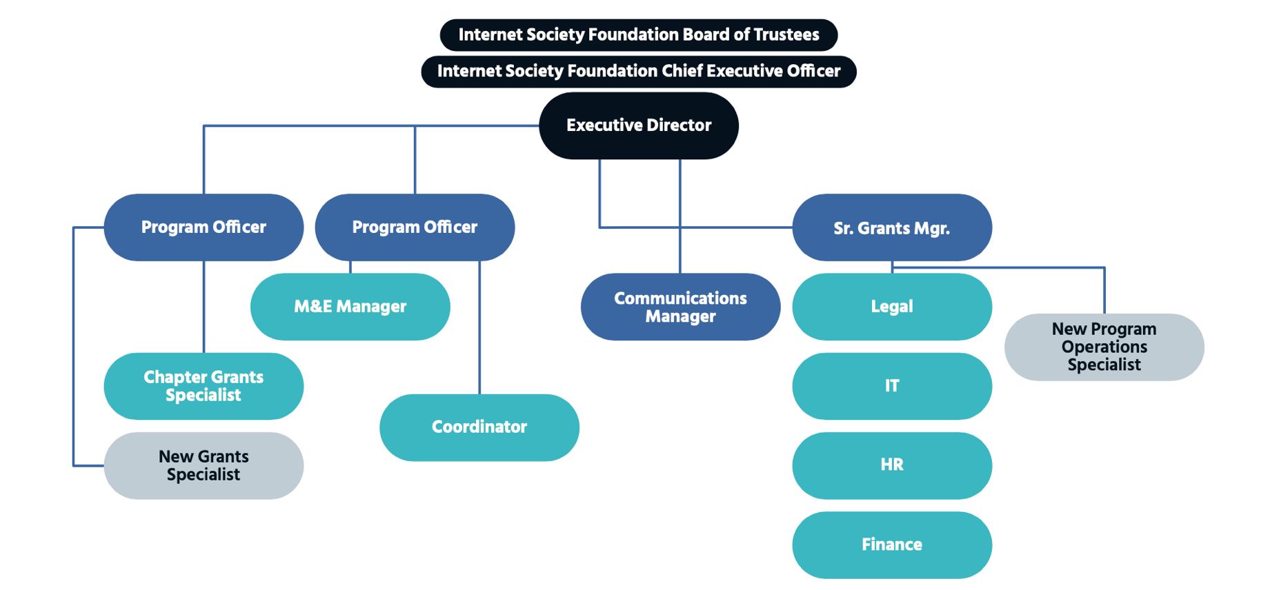 Internet Society Foundation Organisational Chart