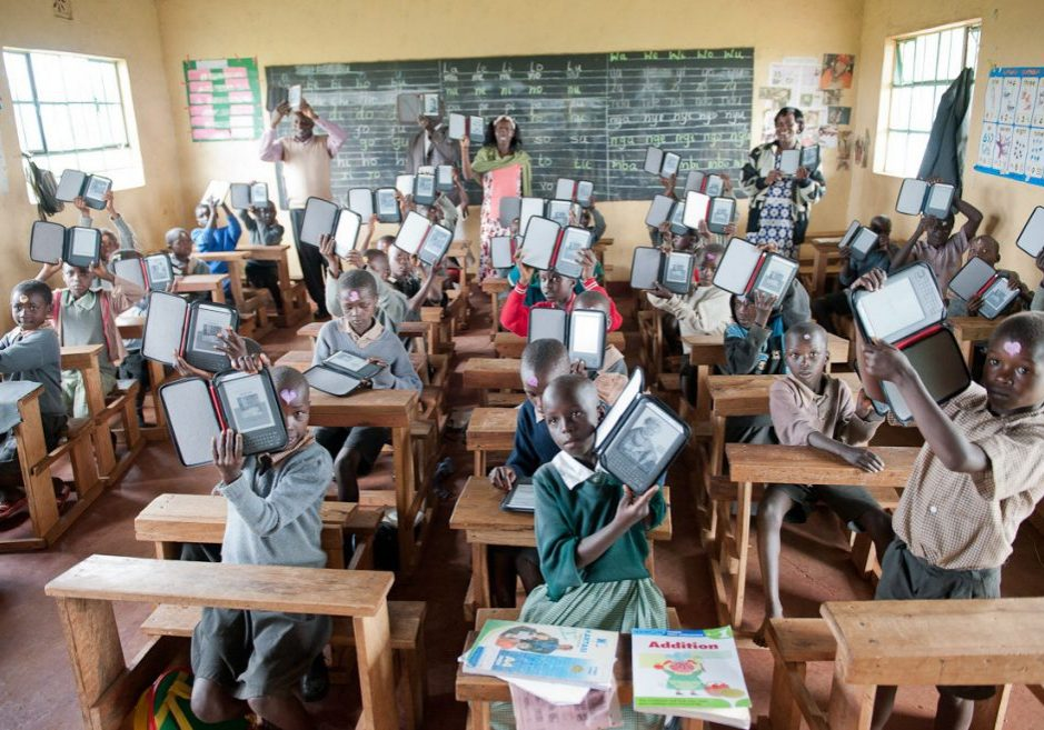 Students at Ntimigom School in Kilgoris, Kenya